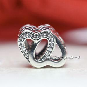 Pandora Entwined Hearts Charm 791880CZ